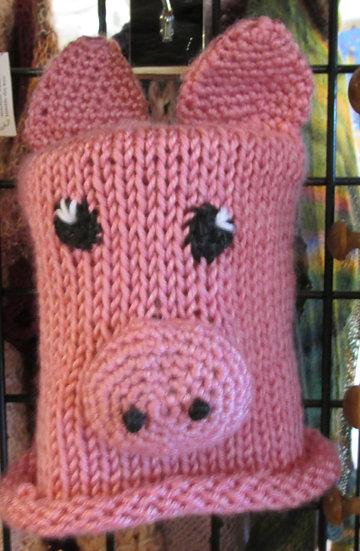 Children's Handknit Pig Theme Hat