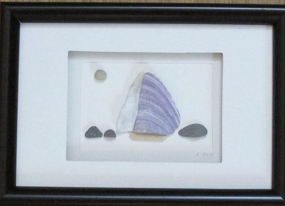 Sailing, Framed Wall Hanging by Artisan Lisa Holt
