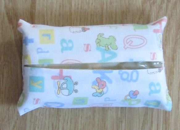 "Baby ""ABC"" Tissue Holder"