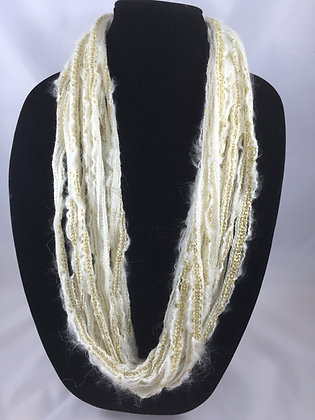 Winter Sparkle Plush Necklace by Artisan Jane Arey