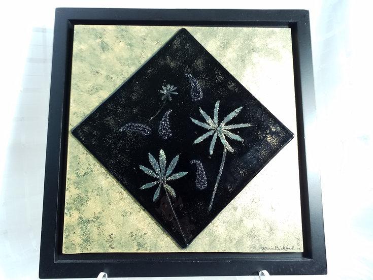 Lupine Glass Framed