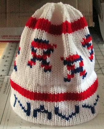 Navy Supporter Handknit Hat by Artisan Keepsake NogginKnits