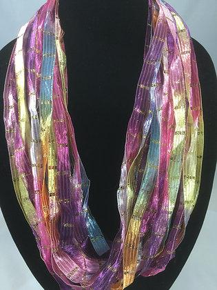 Violet Pastel Ribbon Necklace