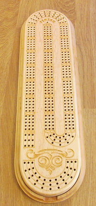 Handmade Custom Cribbage Board, Choice of Wood by Artisan Duane Butler