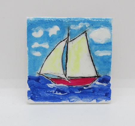 Sailboat Magnet by Artisan Karen Lannon