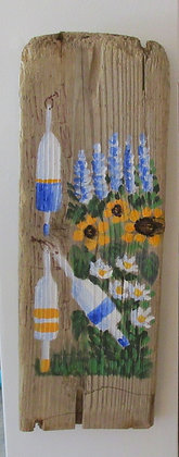 The Beauty of Maine Hand Painted on Driftwood by Artisan Candace McKellar