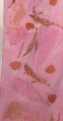 Botanical Printed Silk Scarf by Artisan Sandi Cirillo