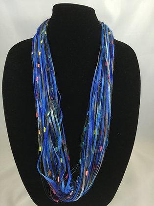 Jazzy Blue Jewel Necklace by Artisan Jane Arey