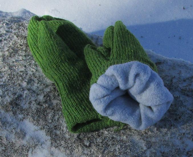 Keevan Fleece Lined Wool Handknit Mittens
