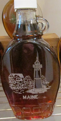 Hand Etched  Lighthouse Maple Syrup by Artisan The Sugar Shack
