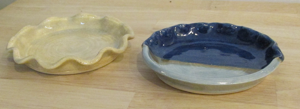 """Handmade 4"""" Soap Dish with Scalloped Edges"""