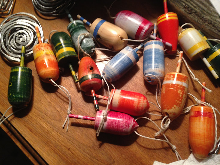 Custom Wooden Buoys
