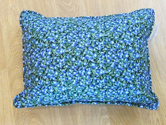 Blueberry Print Pillow by Artisan Pillow World