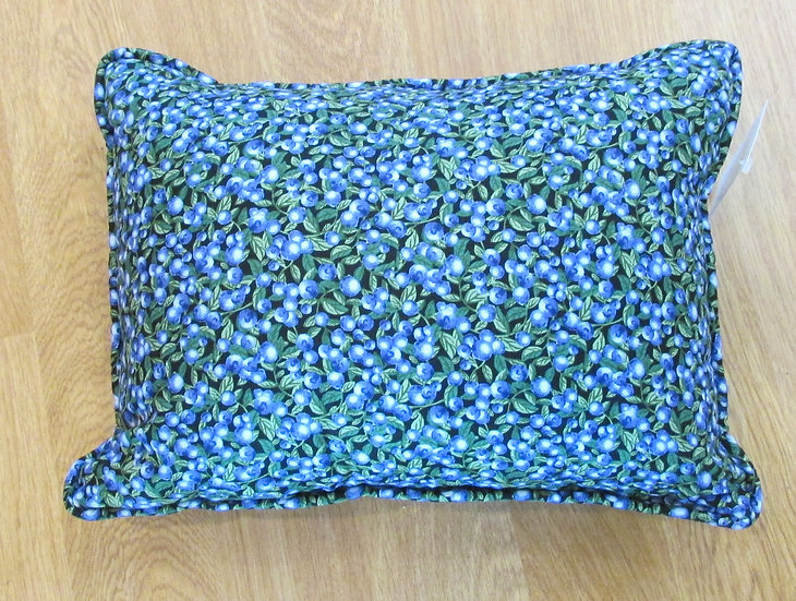 Blueberry Print Pillow