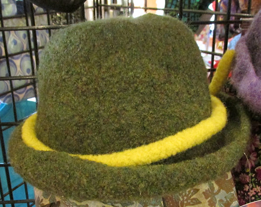 Inspired by Nature Handmade Felted Wool Hat by Artisan May Bouchard