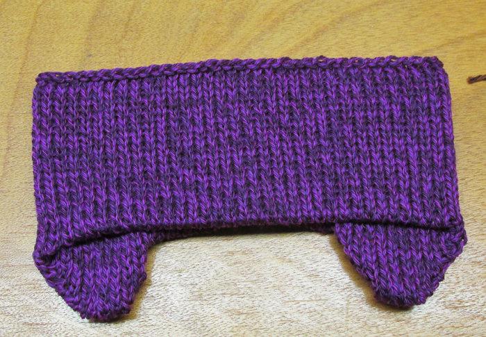 Wool earflap headband