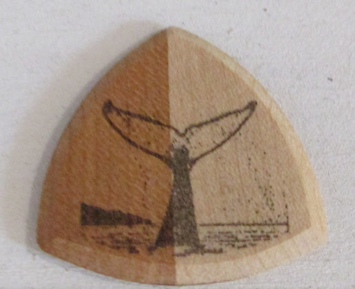 Whale  Wooden Guitar Pick by Artisan Chris Gray