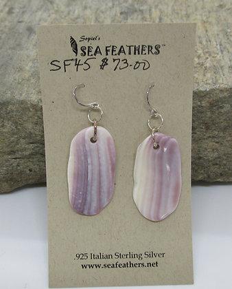 Wampum Earrings by Artisan Sopiel's Sea Feathers