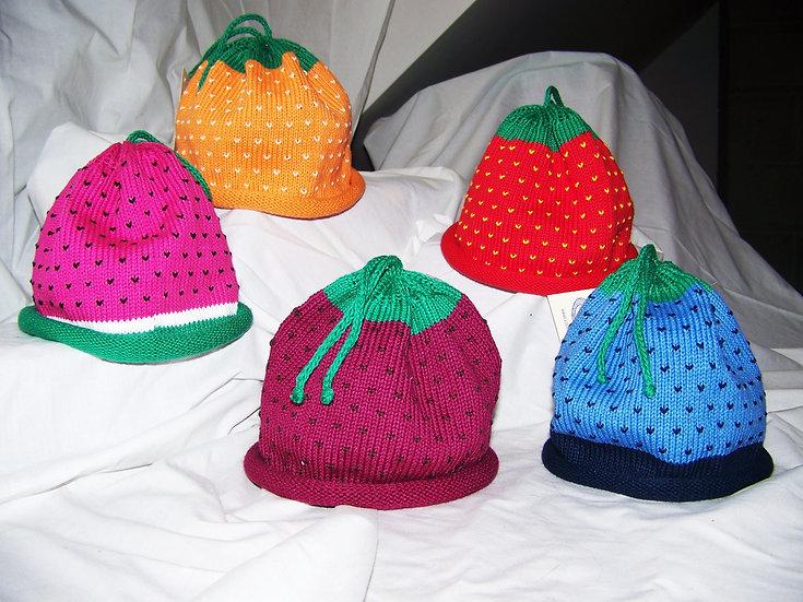 Hand Loomed Custom Cotton Berry Hats
