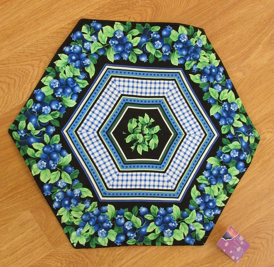 Reversible Blueberry Table Topper