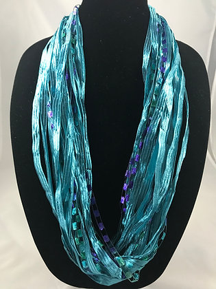 Turquoise Ribbon Necklace by Artisan Jane Arey