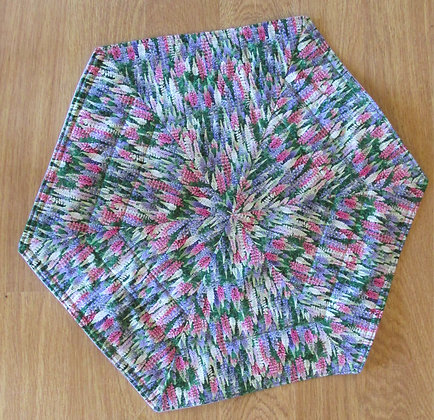 Lupine Table Topper made by May Bouchard