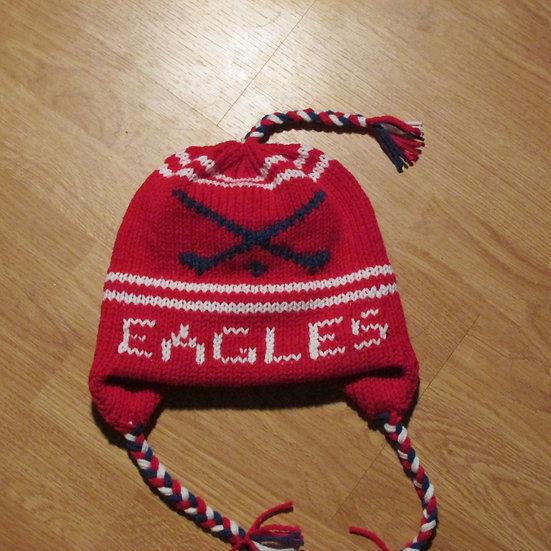 Messalonskee Eagles  Field Hockey Handknit Hat