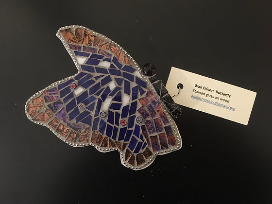 Wall Hanging Butterfly 2  by Angela Maniak