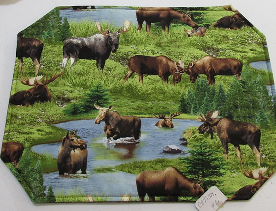 Moose Placemats by Artisan Pillow World