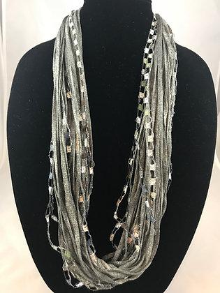 Gray Skies Jewel Necklace by Artisan Jane Arey