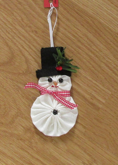 Hand Sewn Snowman Ornament