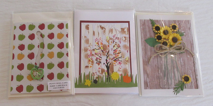 Autumn Scene Hand Made Cards by Artisan Marilyn Parker
