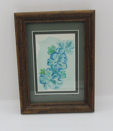 "Felted ""Blue Flowers"" by Artisan Sandi Cirillo"