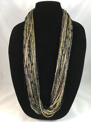 Golden Globe Majestic Necklace by Artisan Jane Arey