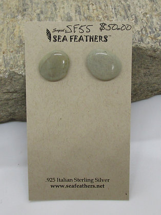 Jasper Stud Earrings by Artisan Sopiel's Sea Feathers