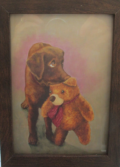 Puppy with Teddy