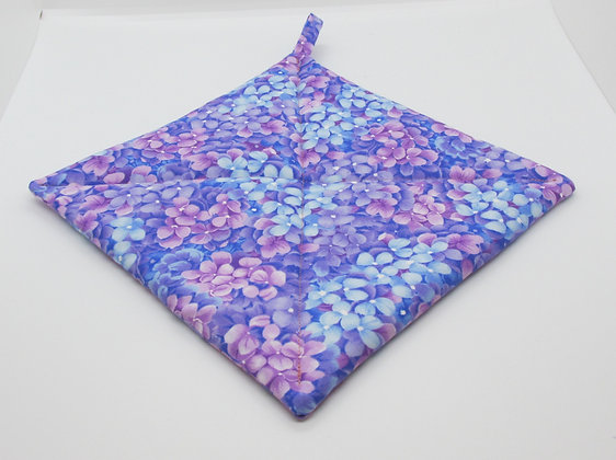Happy Spring Flowers Pot Holder by Artisan May Bouchard