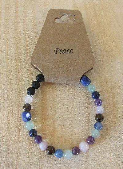 """""""Find Peace"""" Aromatherapy Stretchy Bracelet"""