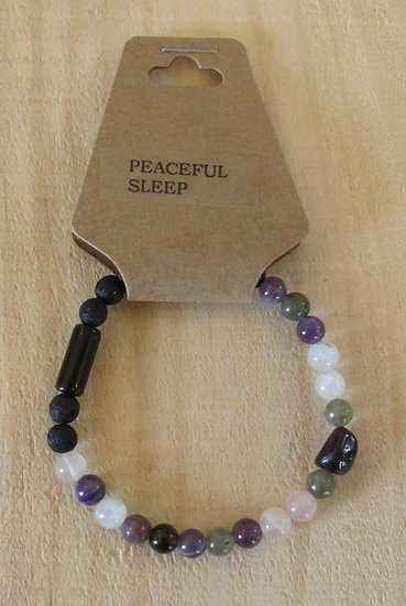 """Peaceful Sleep"" Aromatherapy Stretchy Bracelet"