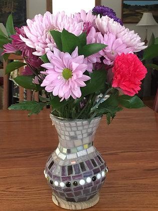 Glass Vase: Shades of  by Angela Maniak