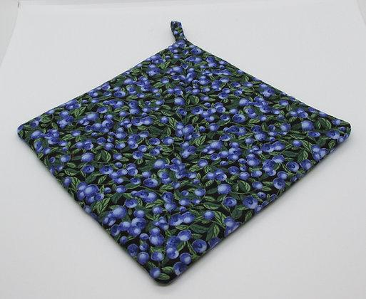 Blueberry Pot Holder by Artisan May Bouchard