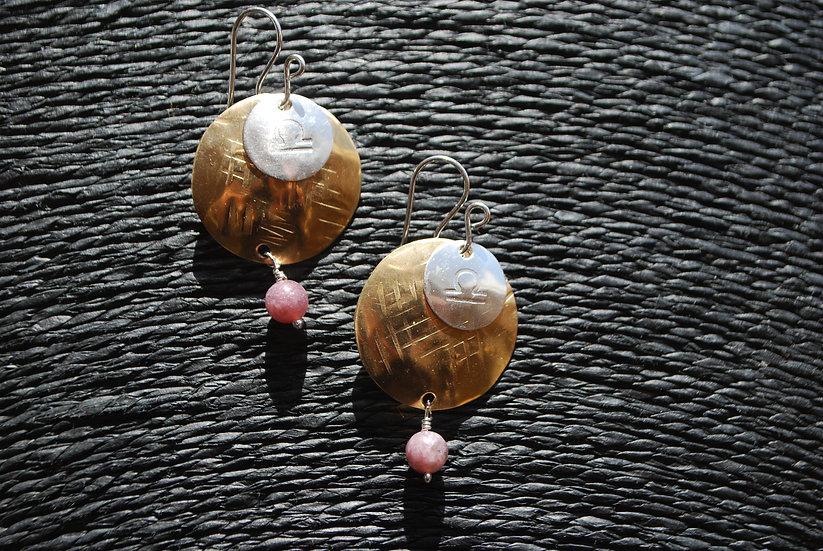 Libra Zodiac Earrings