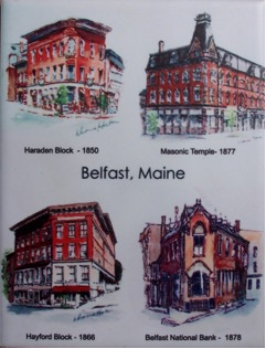 Belfast, Maine Buildings, Ceramic Tile by Artisan Dianne Horton