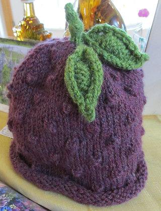 Children's Handknit Grape Hat by Artisan Karen Hartt