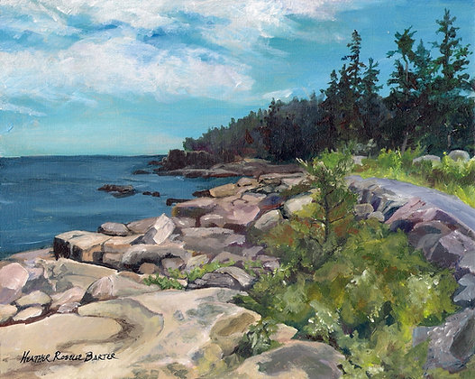 The Path to Otter Cliffs by Heather Roselle Barter