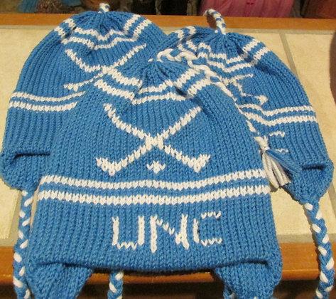University North Carolina Field Hockey Handknit Hat by Artisan Keepsake NogginKn