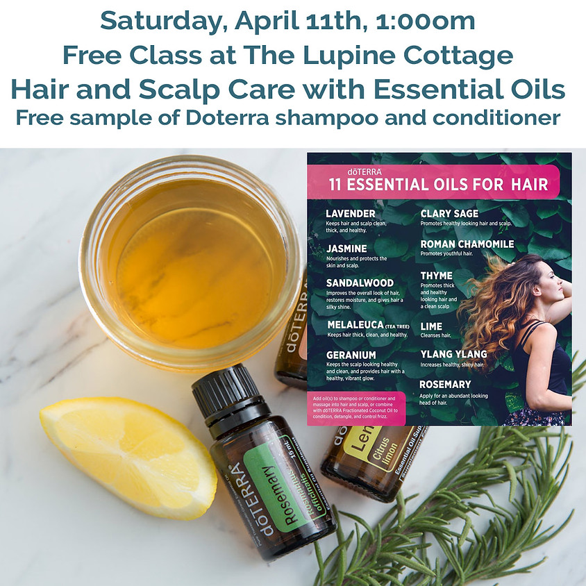 Hair and Scalp Care with Essential Oils