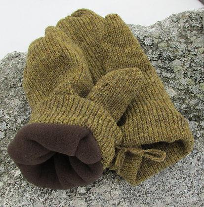 Merril Fleece lined Wool Handknit Mittens
