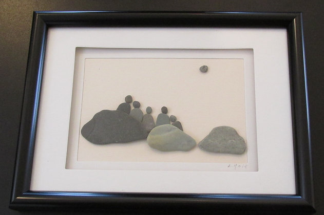 Family,   Framed Wall Hanging by Artisan Lisa Holt
