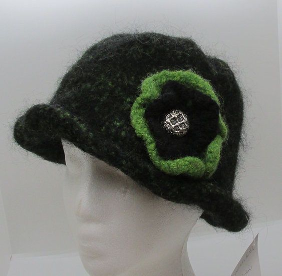 The Power of Green Inspired Felted Wool Hat